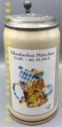 2013 Munich Oktoberfest Official Beer Stein
