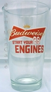 Budweiser Racing 29 Pint Glass SET OF FOUR