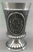 Crest Pewter Shot Glass