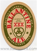 Ballantine Ale Oval Beer Coaster