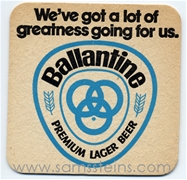Ballantine Beer Greatness Ballantine Ale The Year Beer Coaster