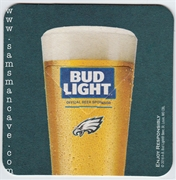 Bud Light Philadelphia Eagles Beer Coaster