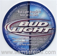 Bud Light Draught Beer Coaster