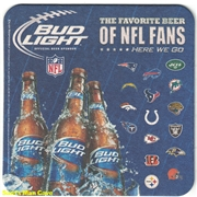 Bud Light NFL Beer Coaster