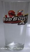 Bud Bowl X Pint Glass