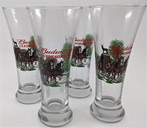 Budweiser Clydesdales Holiday Glass Set