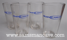 Bud Light Pint Glass Set of Four