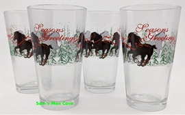 Budweiser Clydesdales Season Greetings Pint Glass Set