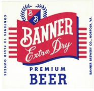 Banner Extra Dry Beer Label