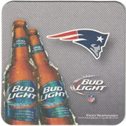 Bud Light New England Patriots Coaster