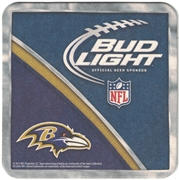 Bud Light Baltimore Ravens Coaster